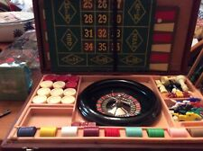 Lowe Roulette Wheel,Checkers, Racing,Chess,Suitcase Travel