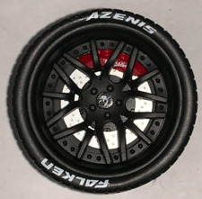 1/18 AB Models Forgiato Wheels Ideal For Maserati Matte Black w/ Falken  AB1032