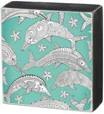 Intricate Dolphin Colorable Wall Art - Color a Sign - 33037