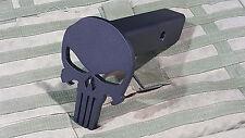 Hitch Cover - Punisher Skull - AR500 Steel Plate - Powdercoat Black