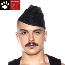 Prowler RED Triangle Cap Black LARGE Leather Retro Military Look