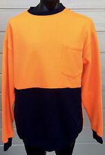 BizWear Hi Vis Polar Fleece Long Sleeve Jumper XXXL Orange