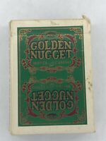 Vintage Golden Nugget Gambling Hall Hotel & Casino Used Playing Cards Cut Green