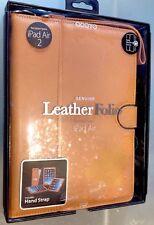 🐂 iPad Air Organizer Folio/COVER/CUSTODIA VERA PELLE NUOVO!