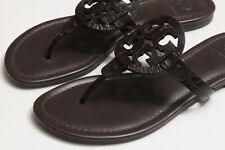 Tory Burch Miller Dark Brown Leather Thong Sandals Shoes 7 M