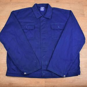 Vtg French EU Worker CHORE Work Shirt Jacket - XL #82 WORN VTG