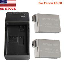 LP-E8 Camera Battery 1200mAh For Canon EOS 550D 600D 650D 700D Kiss X5 w/Charger
