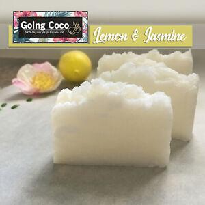 1x Organic COCONUT OIL SHAMPOO Bar - LEMON Jasmine-100% Natural- Normal/dry hair