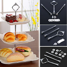 New Wedding Party 3 Tier Cake Cupcake Plate Stand Handle Hardware Fitting Holder