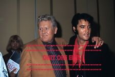 ELVIS PRESLEY 1969 Press Conference August 1969 Las Vegas 8x10 Photo with VERNON