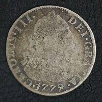 Bolivia 1779 2 Reales Potosi Spanish Colony Carlos III Silver Coin