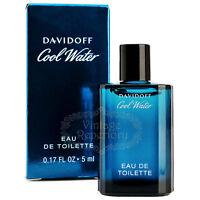 DAVIDOFF Perfume Cool Water Eau De Toilette Miniature Men Cologne 0.17oz 5ml NIB