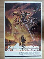 THE 4 HORSEMEN OF THE APOCALYPSE (1961) - original US 1 Sheet film/movie poster