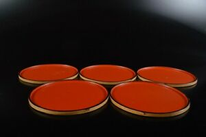 L8403: Japanese Wooden Bamboo Shapely SERVING PLATE/dish 5pcs