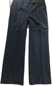 LOFT Women's blue WOOL BLEND high Waist LINED Suit PANTS Size: 2 PETITE