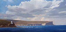North Head, Coastal Storm - Original Australian Landscape Oil Painting.