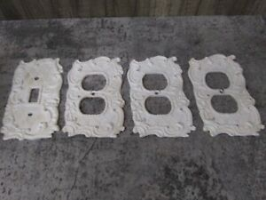 3 Shabby Chic Painted Outlet Covers 1 Swichplate Cover Ivory Distressed Paint