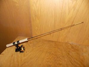 "(HTF) Hi Tech 28"" GLO TIP UltraLite Ice Fishing Rod W/Hi Tech Reel (CLEAN)  3/21"