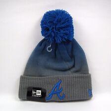New Era Men's MLB Atlanta Braves Fade Grade Bobble Knit Beanie Hat - One Size