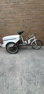 """TGA Electric Tricycle - 250 watt- White- 17"""" Frame - New battery"""