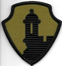 Puerto Rico Olive Green Black 1st Mission Command Patch VELCRO® BRAND Hook Side