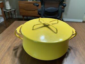 DANSK France IHQ Kobenstyle - 3 QT Casserole Pot/Dutch Oven - Yellow Enamel