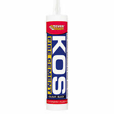 Everbuild Kos Fire Cement 300ml - Black, Buff - Heat Resistant Up To 1250°C
