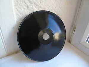 French antique vintage c.1940  black porcelain enamel light shade
