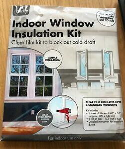 Indoor window insulation kit, draught-proof windows (easy installation)