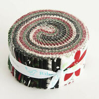 "40-2.5"" STRIPS~ROLIE POLIE~WINTERBERRY by My Mind's Eye~""JELLY ROLL"" CHRISTMAS"