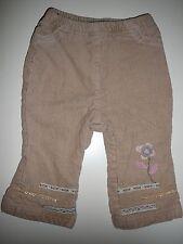 Oskar's Mini fantastiche Cord Pantaloni Tg 68 Beige con fantastici ricami!!!