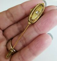 Vtg Unsigned Avon Kensington Gold Tone Stick Pin Victorian 1950s Revival