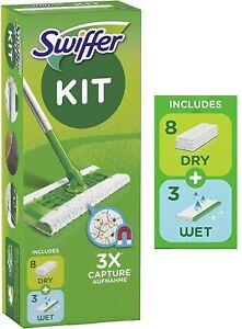 Swiffer Set 1 Floor Mop Floor Dusters 8 dry Wipes + 3 Wet  or Kit Dusters