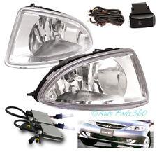 04 05 HONDA CIVIC 2/4DR BUMPER DRIVING JDM CHROME FOG LIGHTS LAMP+10K HID+SWITCH