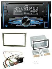 JVC MP3 USB CD 2DIN AUX Autoradio für Opel Corsa D Astra H Zafira B satin-stone