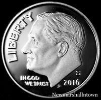 2016 S  Roosevelt Dime Clad Proof ~ US Coin from Mint Proof Set
