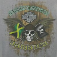 Harley Davidson Men's Shirt Size Large HD Genuine Motorcycles Jamaica