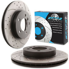 FRONT DRILLED GROOVED 300mm BRAKE DISCS FOR BMW 3 SERIES E46 325i 328i Ci