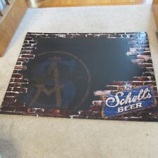 August Schell Beer Brick Wall Chalkboard Tin Tacker Large New New Ulm, MN Huge