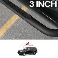 """3"""" MATTE BLACK SIDE STEP NERF BARS RAIL RUNNING BOARD 01-05 EXPLORER SPORT TRAC"""