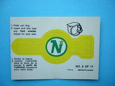 1973/74 O-PEE-CHEE RING INSERT LOGO HOCKEY CARD 5 MINNESOTA NORTH STARS EXNM OPC