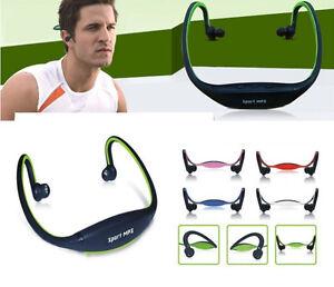 Sport Headphone Headset Earphone Loop TF Card MP3 Player Micro SD Universal
