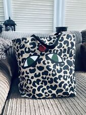 ❤️ LULU Guinness For Red Nose Day Leopard Print Tote Bag.