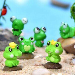 Resin Frog Cute Frog ,Miniature Figurine Animal Model Fairy Garden  Miniature