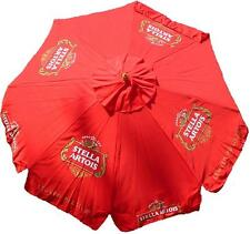 STELLA ARTOIS LEUVEN BELGIUM 9 foot BEER UMBRELLA MARKET PATIO STYLE NEW HUGE