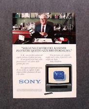 [GCG] L506 - Advertising Pubblicità -1984- SONY TRINITRON