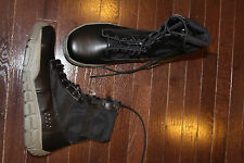 Rocky Black/Gray Sole Steel Safety Toe Lace Up Duty Military Work Boots 13M
