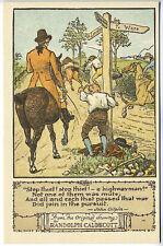 Randolph Caldecott Pictures Stop Thief! A Highway Man Horses Crossroads Postcard