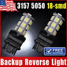 2X White 3157 5050 18-SMD Reverse Backup LED Light Bulb 3156 3057 3456 3757 4114