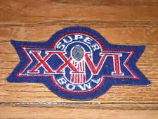 BRAND NEW SUPER BOWL XXVI PATCH 3 1/2 INCHES RARE